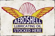 AEROSHELL LUBRICATING OIL HEAVY METAL SIGN