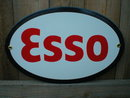 ESSO OVAL PORCELAIN COAT SIGN