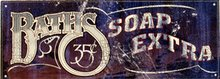 BATHS 35 CENTS SOAP EXTRA TIN SIGN RETRO HOME SIGNS B