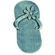 FLIP FLOP SHOE VERDIGRIS STEPPING STONE CAST IRON