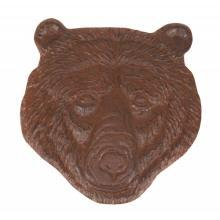BEAR HEAD RUSTIC STEPPING STONE CAST IRON