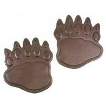 BEAR PAW PRINTS RUSTIC STEPPING STONE CAST IRON