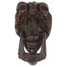 LION DOOR KNOCKER RUSTIC CAST IRON