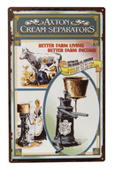 AXTON CREAM SEPARATORS HEAVY TIN SIGN RETRO FARM SIGNS
