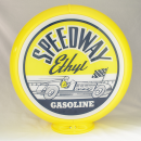 SPEEDWAY ETHYL GASOLINE gas pump globe RACE CAR SIGN