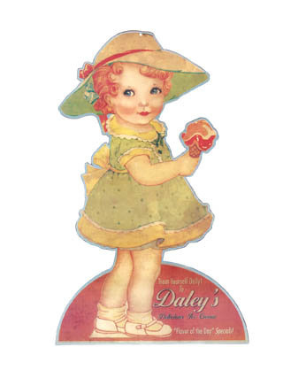DALEY'S DELICIOUS ICE CREAM SIGN RETRO ADV CAFE SIGNS D