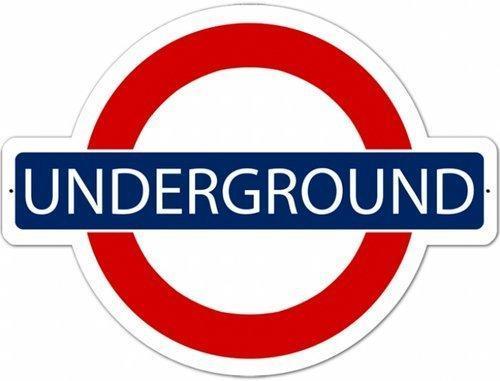 London Underground Sign HEAVY METAL