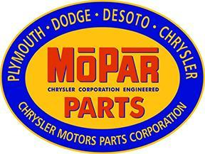 MOPAR PARTS OVAL METAL SIGN 18