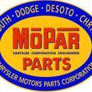 MOPAR PARTS OVAL METAL SIGN 18