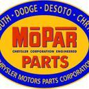 MOPAR PARTS OVAL METAL SIGN 34