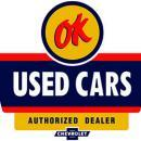 OK USED CARS LOGO HEAVY METAL SIGN ORANGE BLACK 30