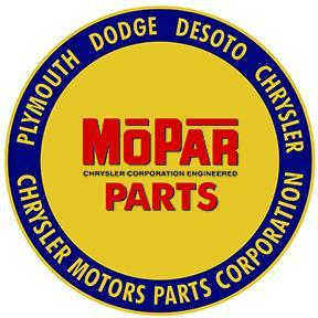 MOPAR ROUND HEAVY METAL SIGN 12