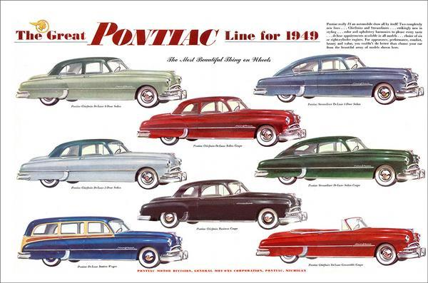 PONTIAC AD 1949 METAL SIGN
