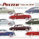 PONTIAC AD 1949 METAL SIGN