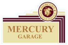 FORD MERCURY LOGO GARAGE HEAVY METAL SIGN