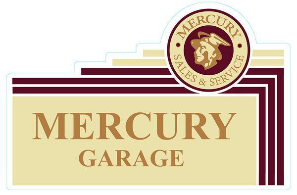 FORD MERCURY LOGO GARAGE HEAVY METAL SIGN