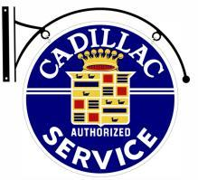 CADILLAC SERVICE DOUBLE SIDED BRACKET SIGN