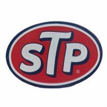 STP EMBOSSED METAL SIGN