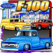FORD F-100 DEALERSHIP HEAVY METAL SIGN 15