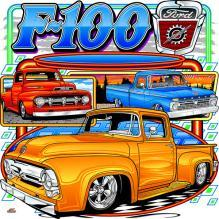 FORD F-100 LIGHTNING HEAVY METAL SIGN 15