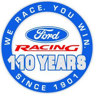 FORD RACING 100 YEARS HEAVY METAL SIGN