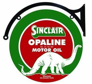 SINCLAIR OPALINE MOTOR OIL DOUBLE SIDED 22