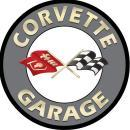CORVETTE GARAGE ROUND METAL SIGN 18