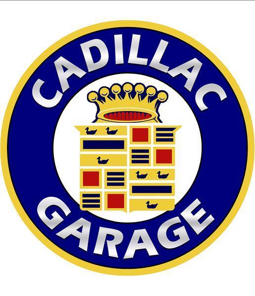 CADILLAC GARAGE ROUND METAL SIGN 18