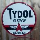 LARGE TYDOL GASOLINE TIN   SIGN  METAL ADV SIGNS