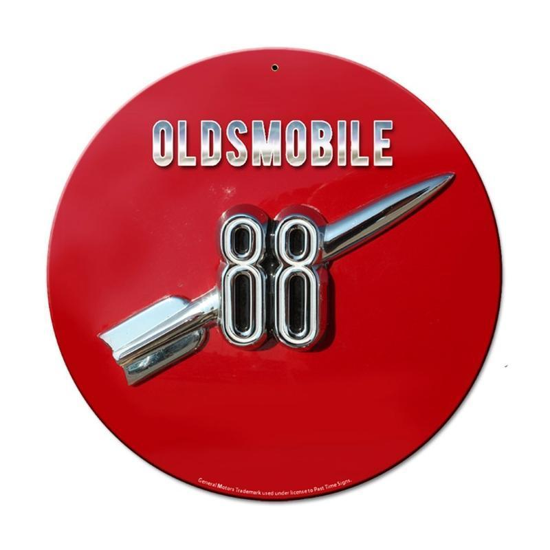OLDSMOBILE 88 GENERAL MOTORS ROUND METAL SIGN 14