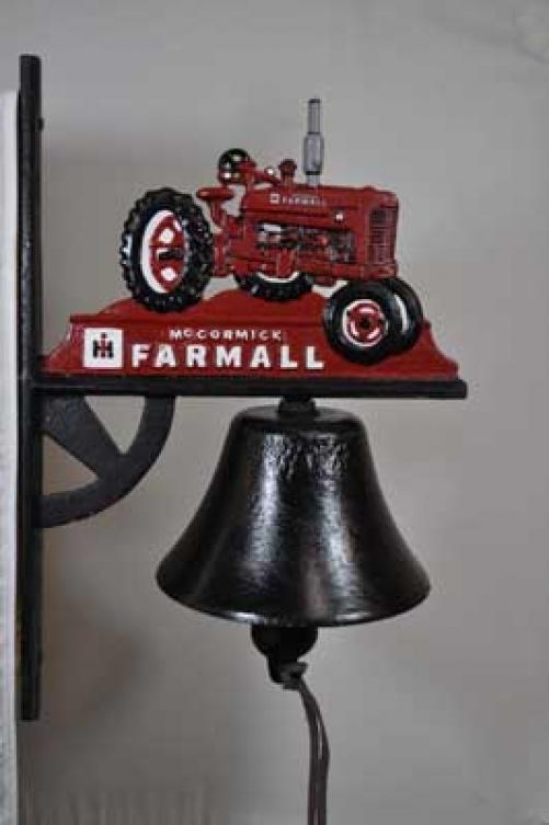 FARMALL BELL CAST IRON WALL MOUNT HOME GARDEN DECOR