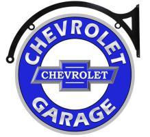 CHEVROLET GARAGE BOWTIE DOUBLE SIDED 22