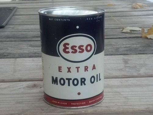 NEW ESSO EXTRA MOTOR OIL 32 FL. OZ. METAL CAN