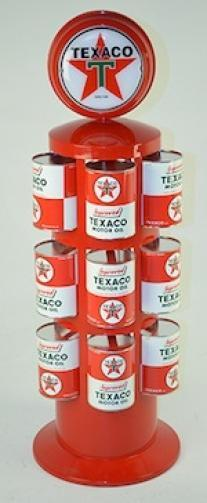 TEXACO MOTOR OIL CAN RACK LIGHTED TOPPER 32 FL. OZ