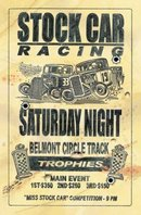 STOCK CAR RACING SATURDAY NIGHT METAL SIGN