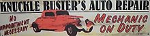 KNUCKLE BUSTERS AUTO REPAIR TIN SIGN METAL POSTER SIGNS