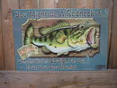 JEFF FOXWORTHY CO-SIGN FOR BASS TIN  SIGN METAL SIGNS B