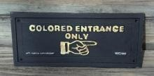 COLORED ENTRANCE ONLY Cast Iron SIGN