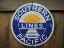 SOUTHERN PACIFIC PORCELAIN OVERLAY SIGN