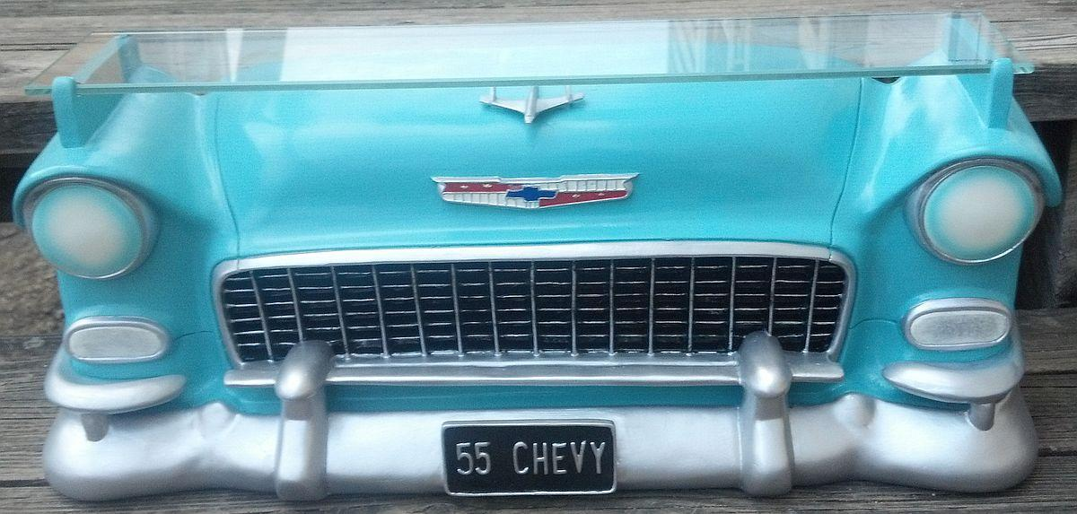 CHEVROLET BEL AIR 1955 3-D RESIN WALL SHELF RESIN