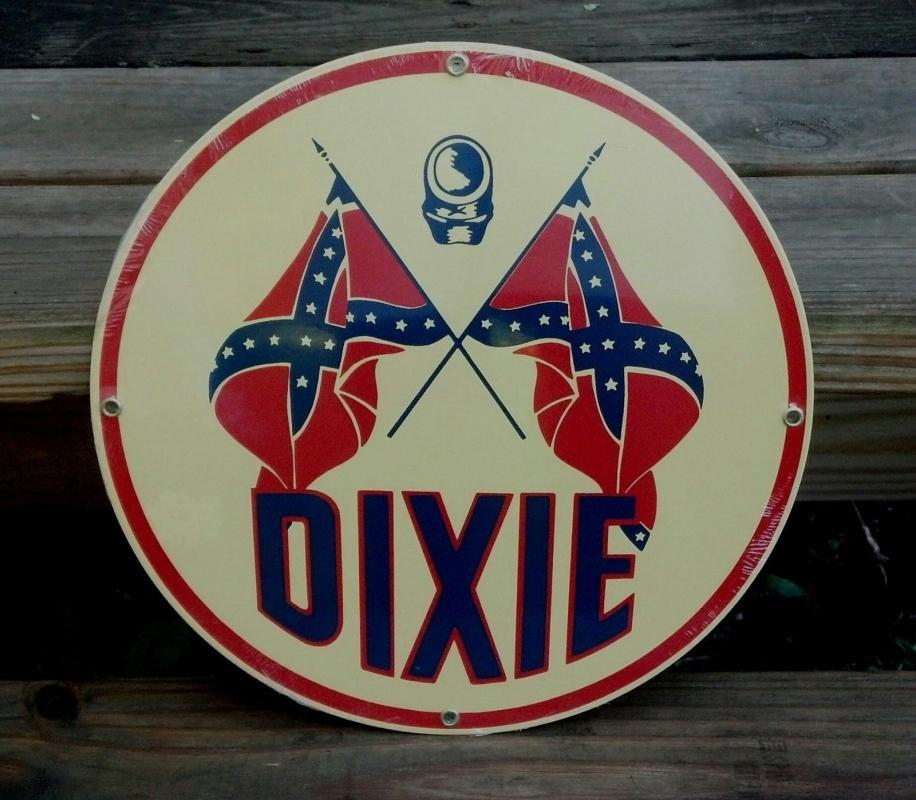 DIXIE PORCELAIN COATED SIGN Cabin Home Man Cave Decor