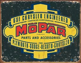 EARLY MOPAR SIGN COLLECTOR ADV METAL SIGNS M