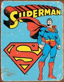 SUPERMAN RETRO TIN SIGN