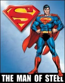 SUPERMAN MAN OF STEEL TIN SIGN