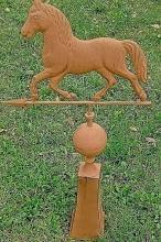 Horse Rustic Weather Vane and Stand  Full Body Cabin Farm Home Roof  Decor