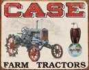 CASE TRACTORS TIN SIGN