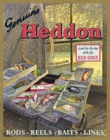 GENUINE HEDDON FISHING TACKLE SIGN