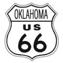 ROUTE 66 OKLAHOMA TIN SIGN METAL HIGHWAY SIGNS O