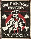 ONE-EYED JACK'S TIN SIGN