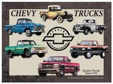 CHEVY TRUCKS TRIBUTE SIGN METAL ADV SIGNS C